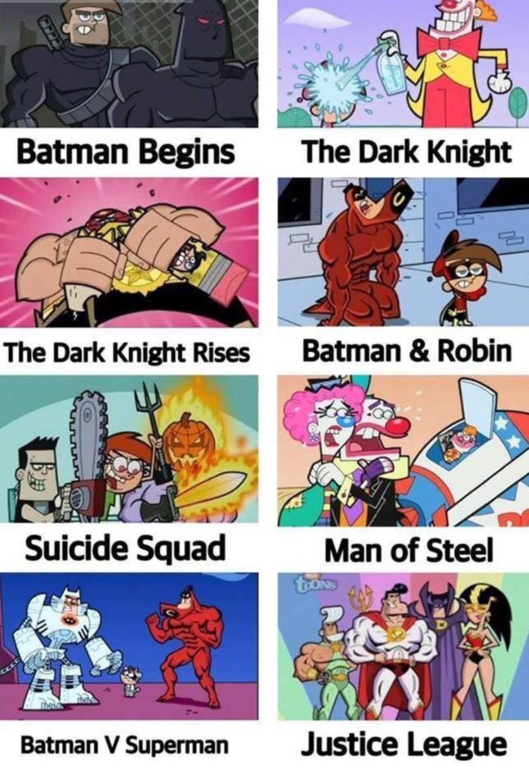 Batman in Fairly Oddparents meme