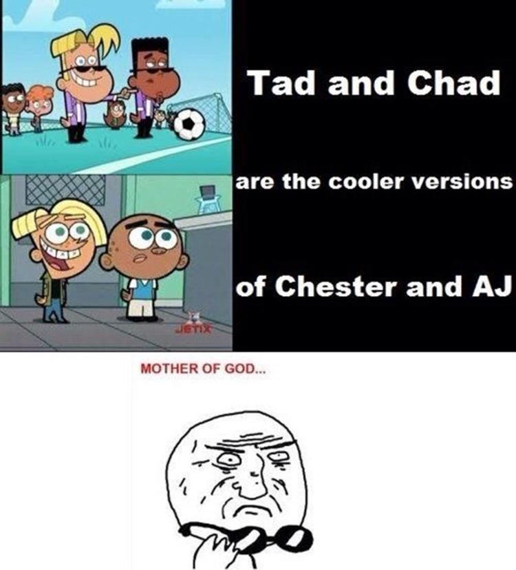 Tad and Chad are AJ meme