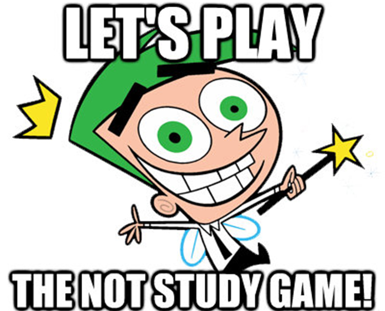 Let's play the not study game meme