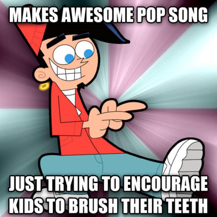 Chip Skylark shiny teeth meme