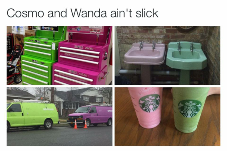 Cosmo and Wanda in real life