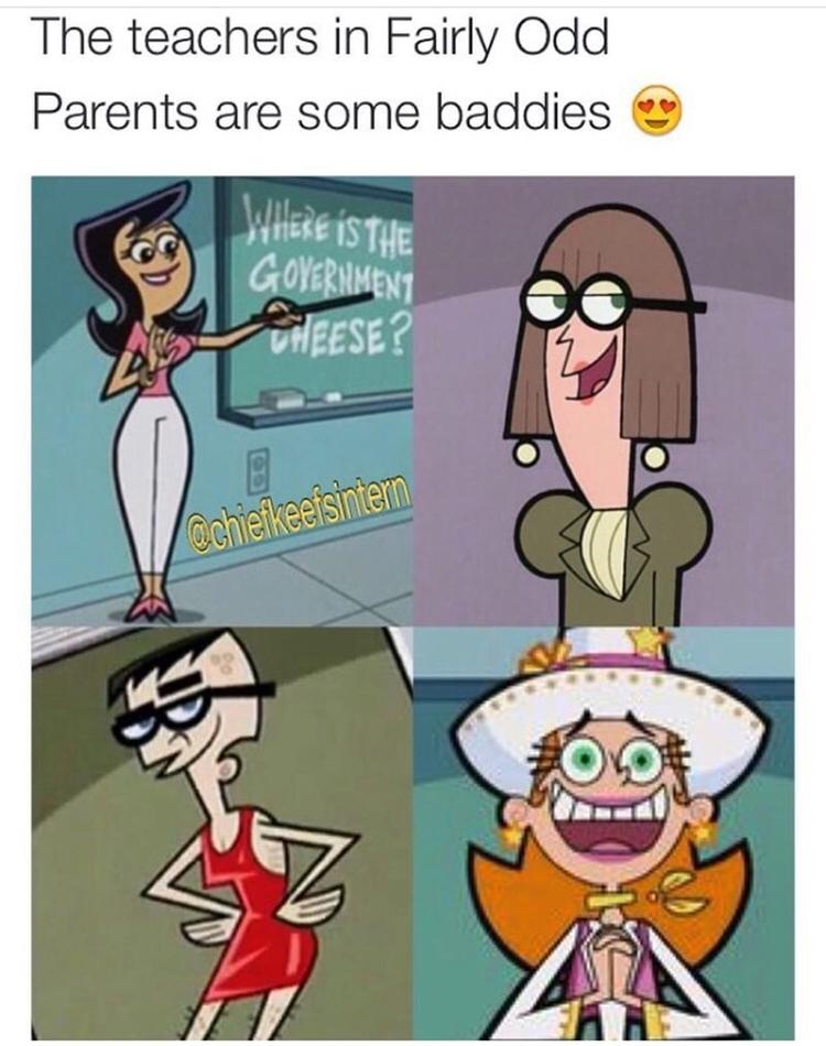 Best teachers in Fairly Oddparents meme