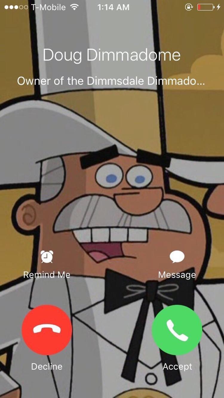 Doug Dimmadome calling meme