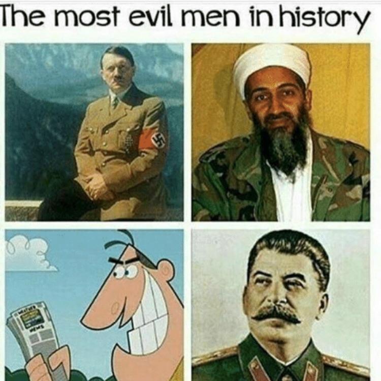 Most evil in the world - Dinkleberg meme