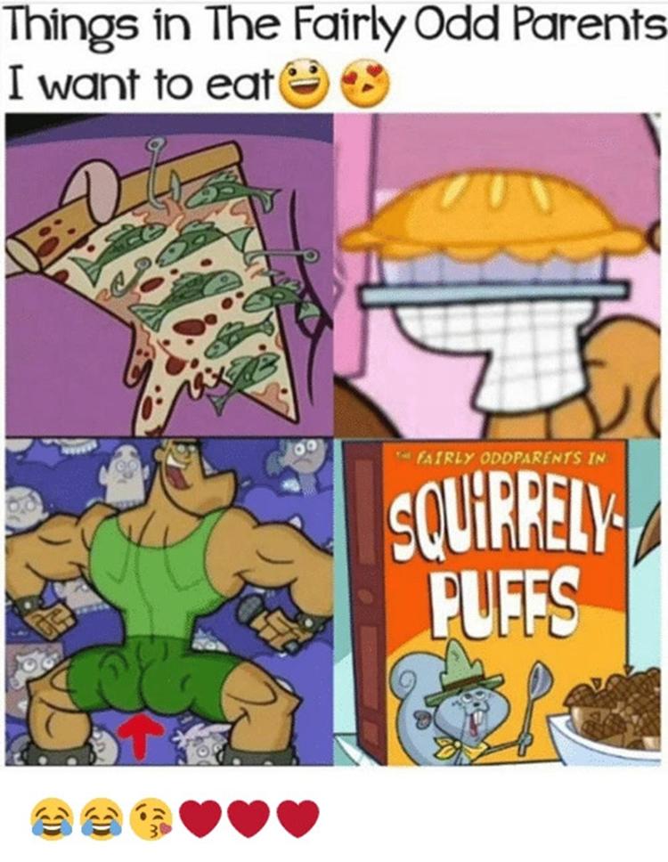 Food in Fairly Oddparents Meme