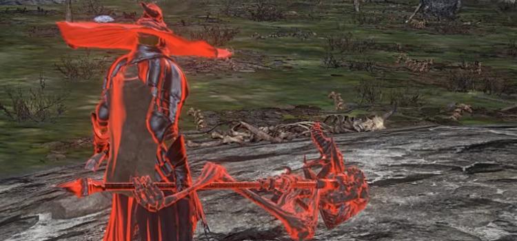 Crucifix of the Mad King Halberd in Dark Souls III