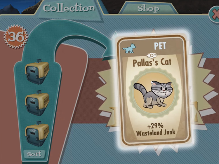 Cinder – Pallas's Cat from Fallout Shelter
