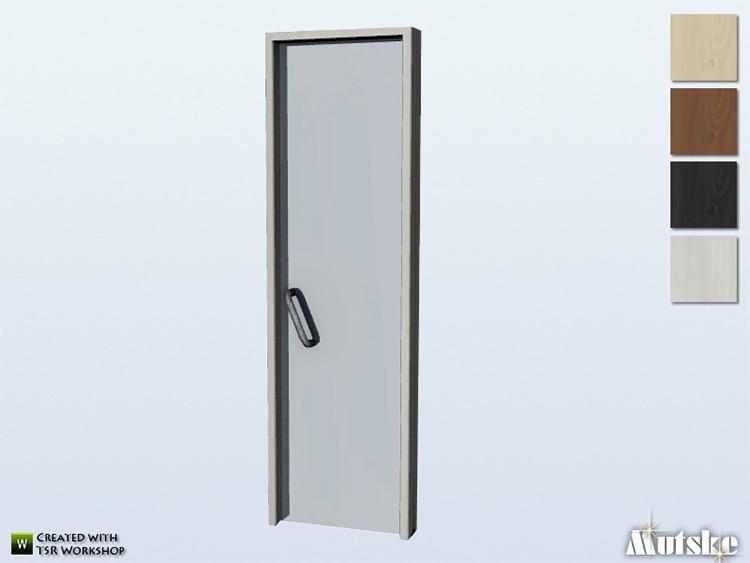 Cedar Door 1x1 by mutske Sims 4 CC