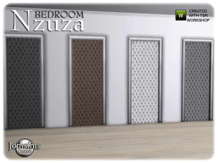 Nzuza Bedroom Door by jomsims TS4 CC