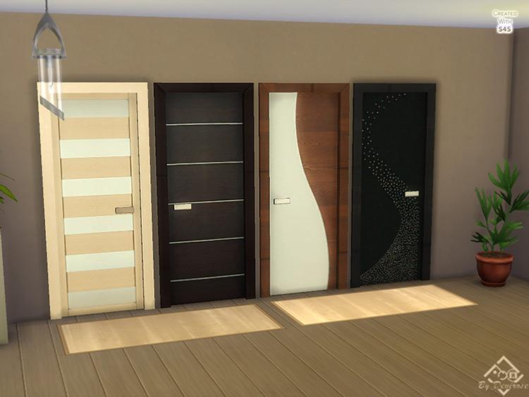 Modern Doors Dream by Devirose Sims 4 CC