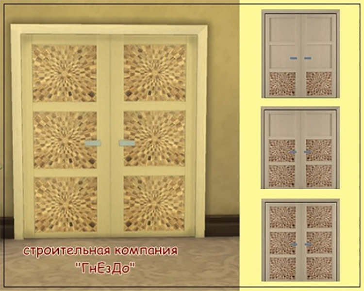 Morus1 Doors by Mulena for Sims 4