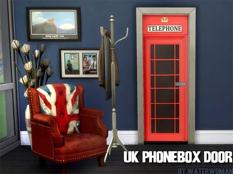 UK Phonebox Door by Akisima Sims 4 CC