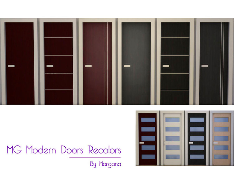 MG Modern Doors Recolors by morgana14 Sims 4 CC