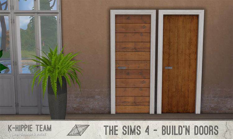 Wood Door x21 – Build'N Doors – True Wood by K-Hippie Team TS4 CC