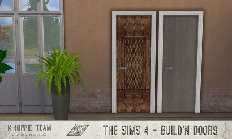 K All Wood Doors - Set-4-5-6-7 by K-Hippie Team Sims 4 CC