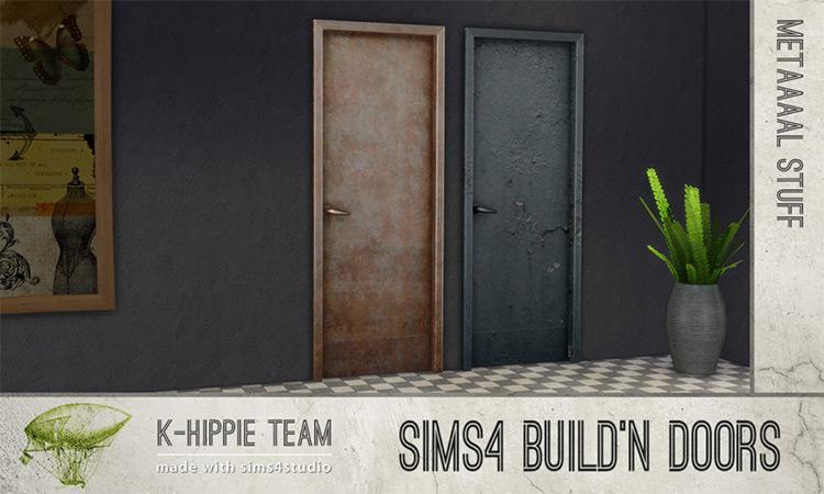 Build'N Doors – Metaaal by K-Hippie Team for Sims 4