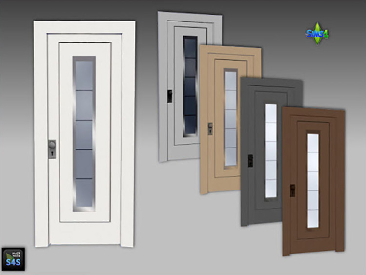 Front Doors (6) in 5 Colors Each by Mabra Sims 4 CC