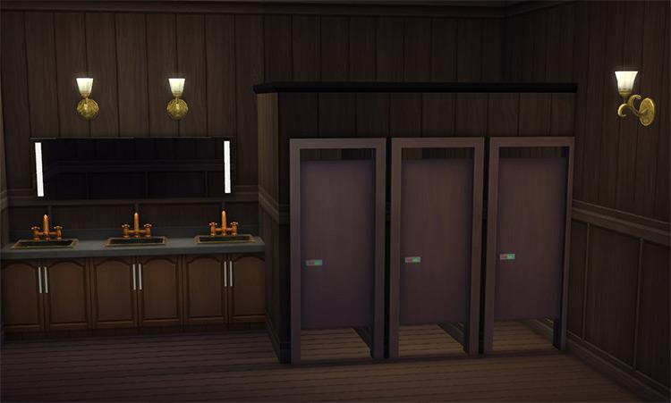 Toilet Stall Doors by Menaceman44 Sims 4 CC