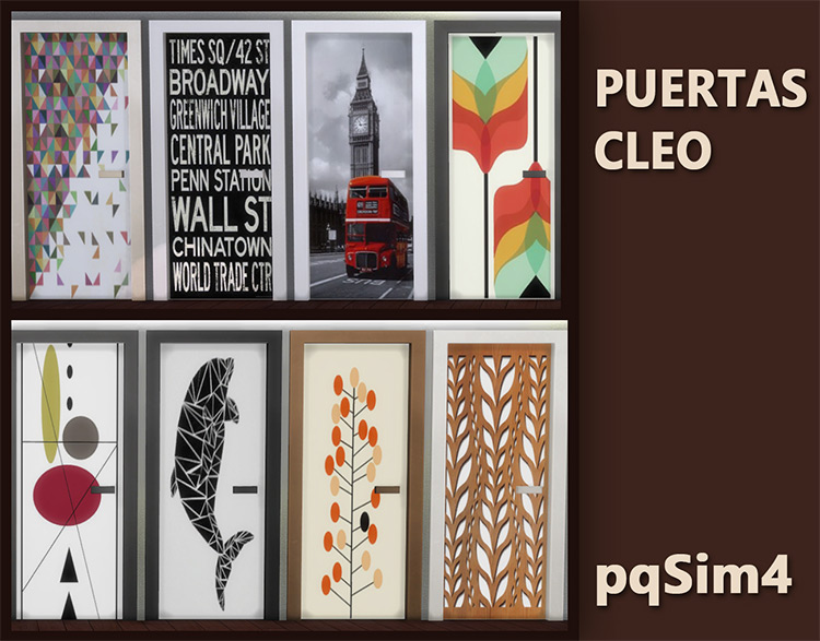 Puertas Cleo Doors by pqSims4 TS4 CC