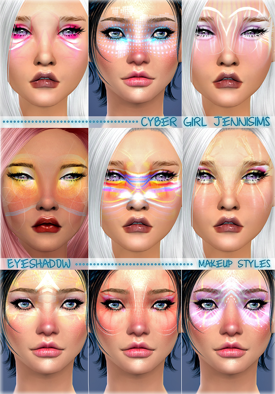 Cyber Girl Makeup TS4 CC