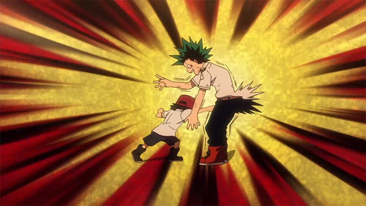 Deku gets one-shotted groin