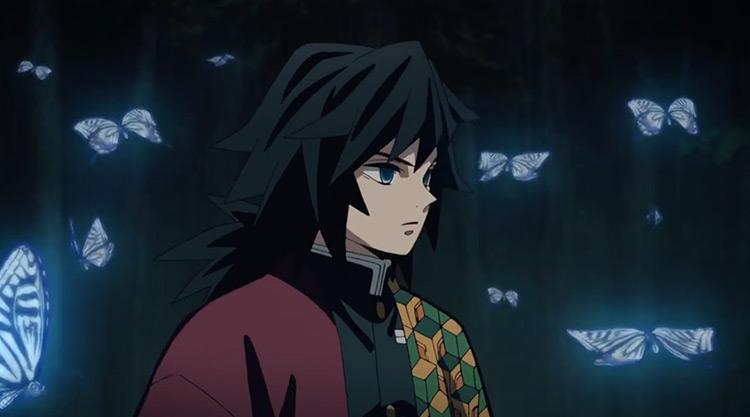 Giyuu Tomioka Demon Slayer anime screenshot