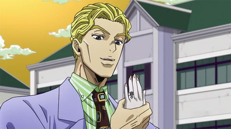 Yoshikage Kira in JoJo's Bizarre Adventure anime