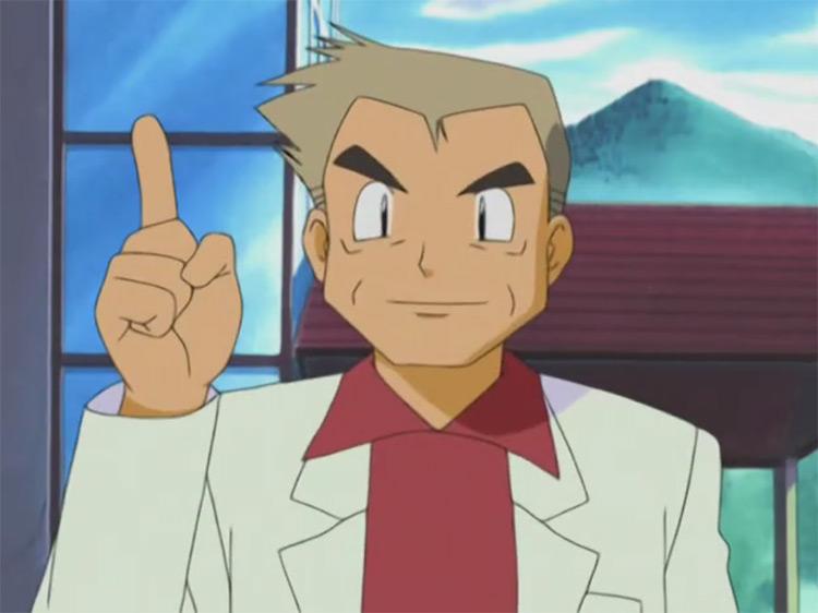 Professor Oak in Pokémon anime