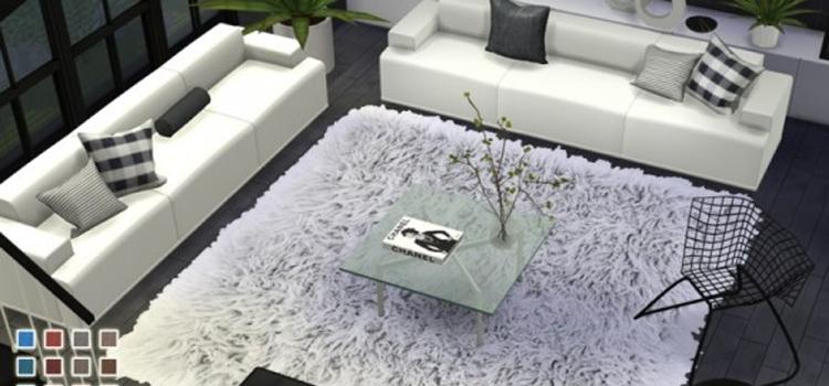 Pralinesims fluffy area rugs CC - TS4