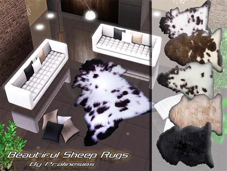 Beautiful Sheep Rugs for TS4