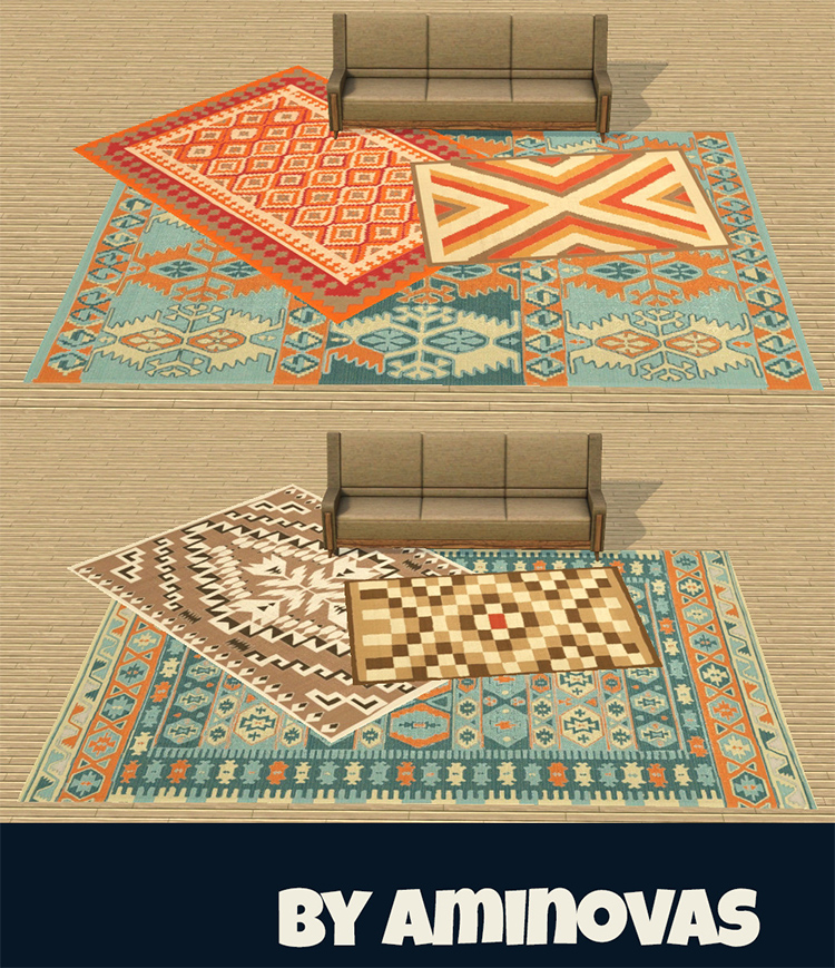 Traditional Recolorable Rugs in TS4