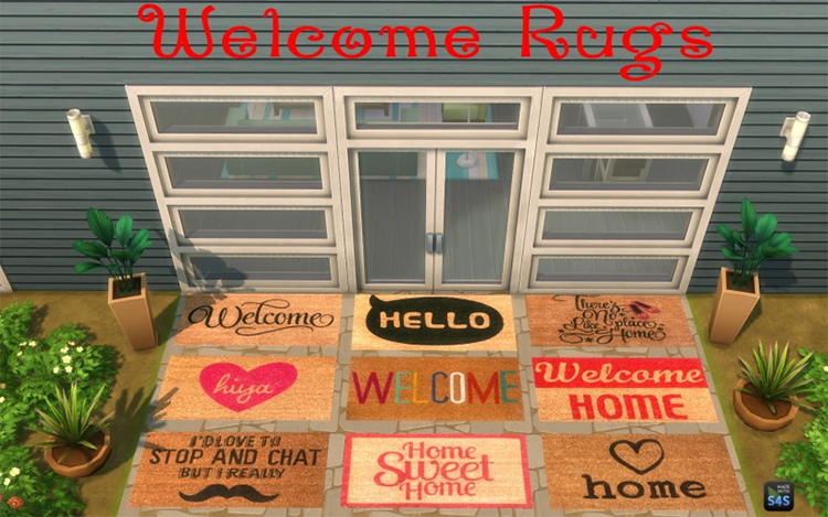 Welcome Rugs CC for The Sims 4