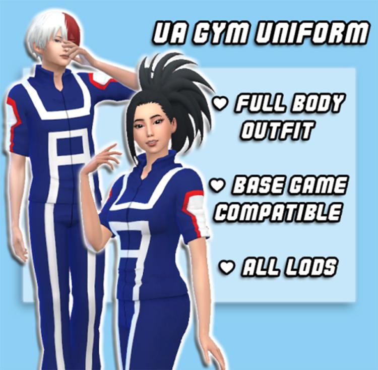 BNHA Gym Uniforms CC in Sims 4