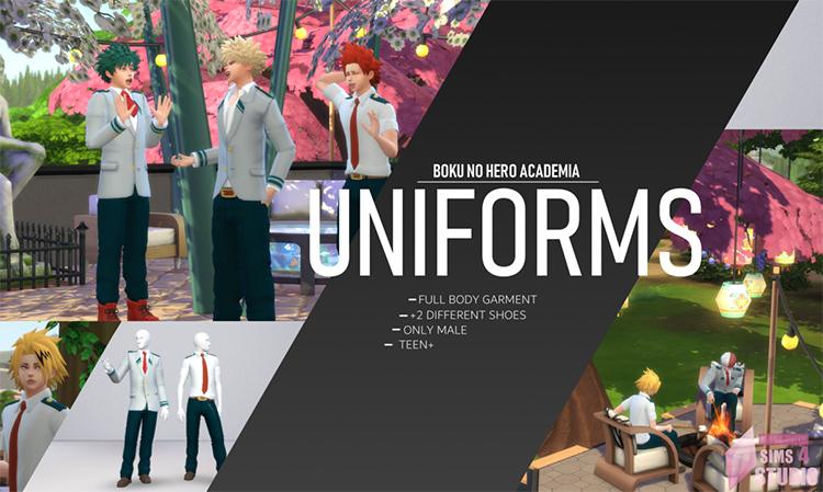 MHA Class Uniforms CC in Sims 4