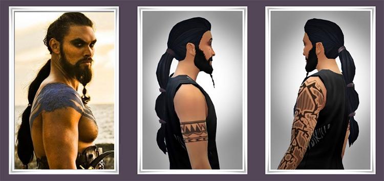 Drogo New Ponytail Sims 4 CC