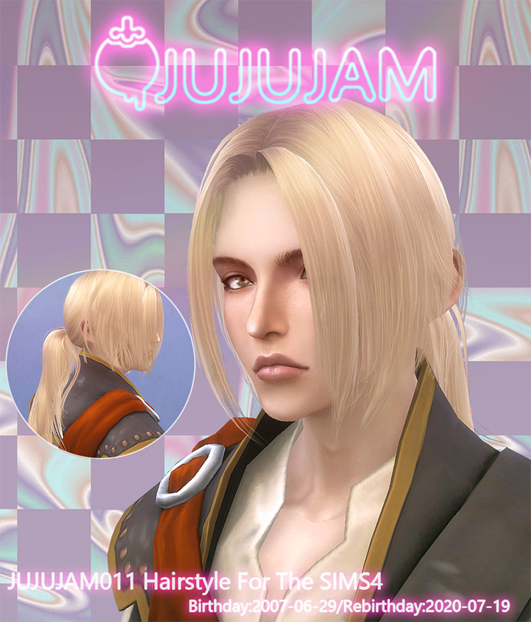 Jujujam Ponytail for Sims 4