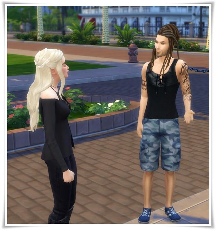 Updo Dreadlocks Sims 4 CC