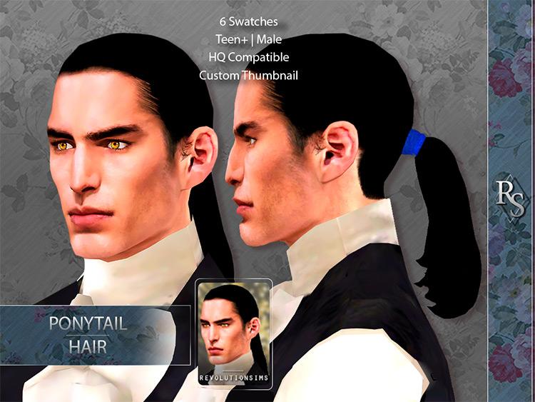 Ponytail Hair for Sims 4