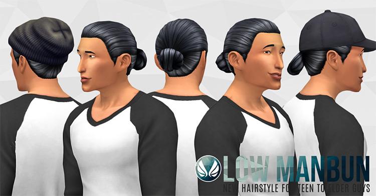 Low Man Bun Sims 4 CC