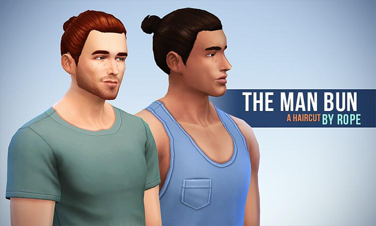 The Man Bun Sims 4 CC screenshot