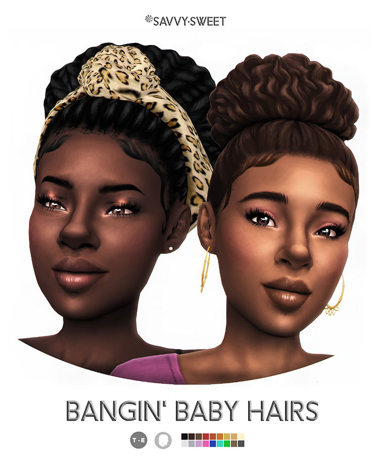 Bangin' Baby Hairs by Savvy.Sweet Sims 4 CC