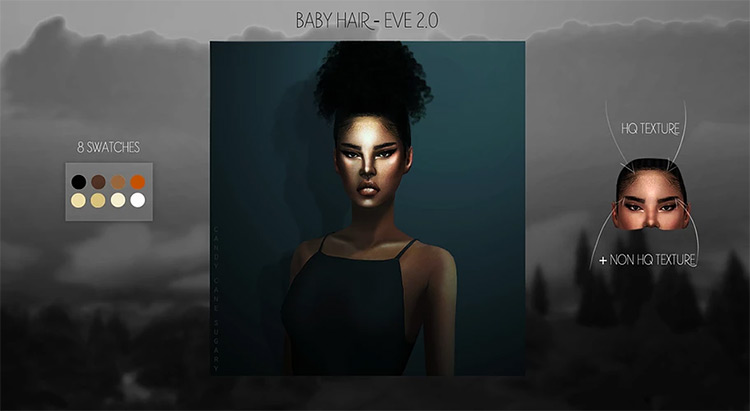 Baby Hair – Eve 2.0 by Candy Cane Sugary Sims 4 CC