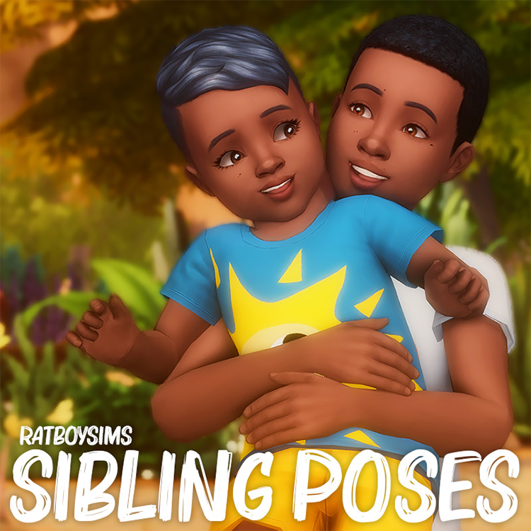 Sibling Poses by ratboysims Sims 4 CC