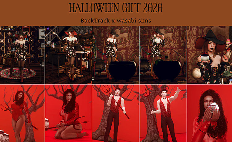 Halloween Gift 2020 Collab with BackTrack by wasabi sims TS4 CC