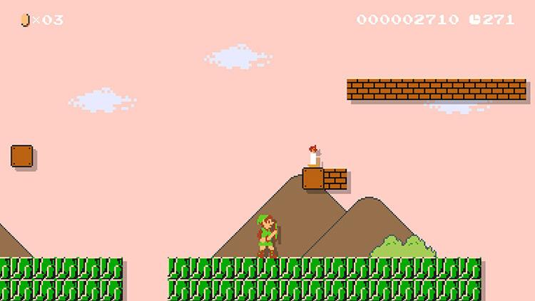 Zelda Mario Maker SMM2 mod