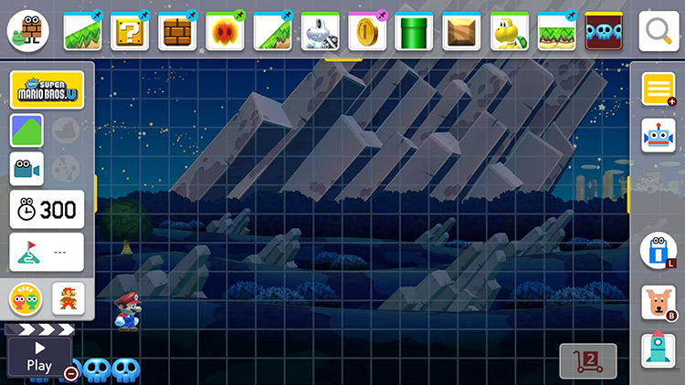 Extra Night Backgrounds Super Mario Maker 2 mod