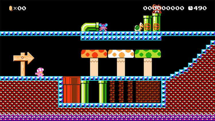 MM2 Sewer Theme in Super Mario Maker 2