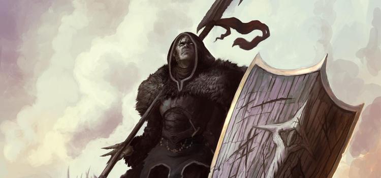 Half-Orc Paladin Character Artwork