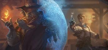 Mage vs Gunslinger character painting