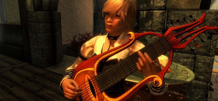 Lisette the bard character in Skyrim